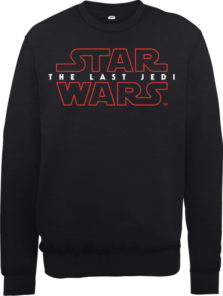 Star Wars The Last Jedi Men's Black Sweatshirt