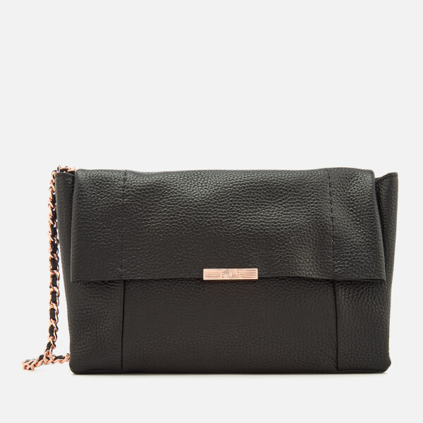 Ted Baker Women's Parson Unlined Soft Leather Cross Body Bag - Black