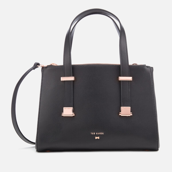 01decc77fb Ted Baker Women's Audrey Adjustable Handle Small Tote Bag - Black: Image 1