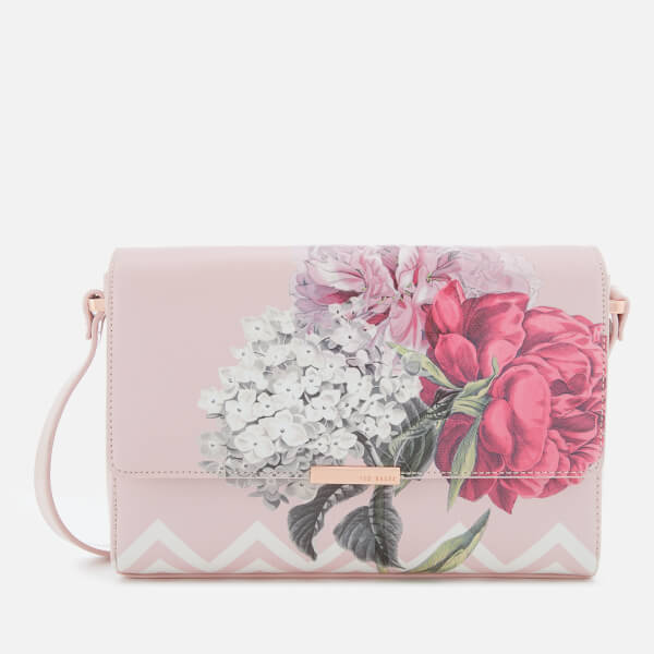 28a6bed1b Ted Baker Women s Teda Palace Gardens Cross Body Bag - Dusky Pink  Image 1