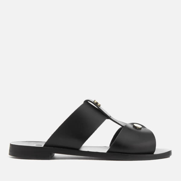 Hudson London Women's Aponi Leather Double Strap Sandals - Black