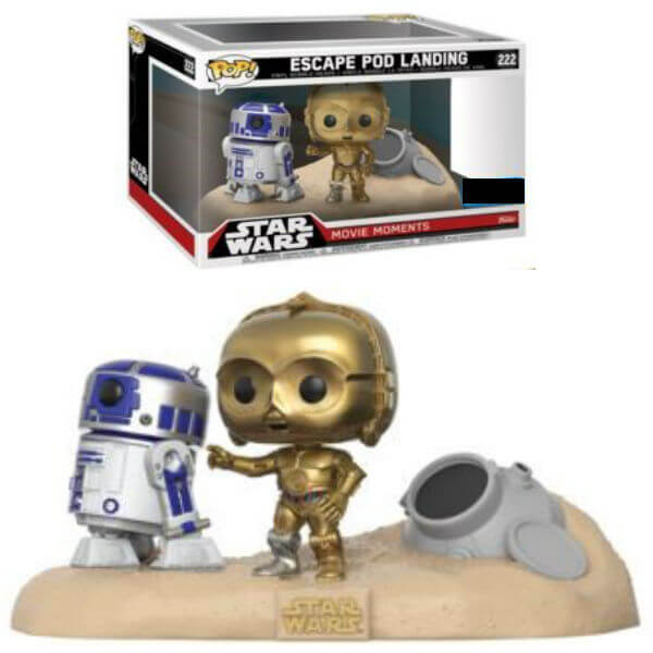 Star Wars Movie Moments R2-D2 & C-3PO Desert EXC Pop! Vinyl Figure 2-Pack