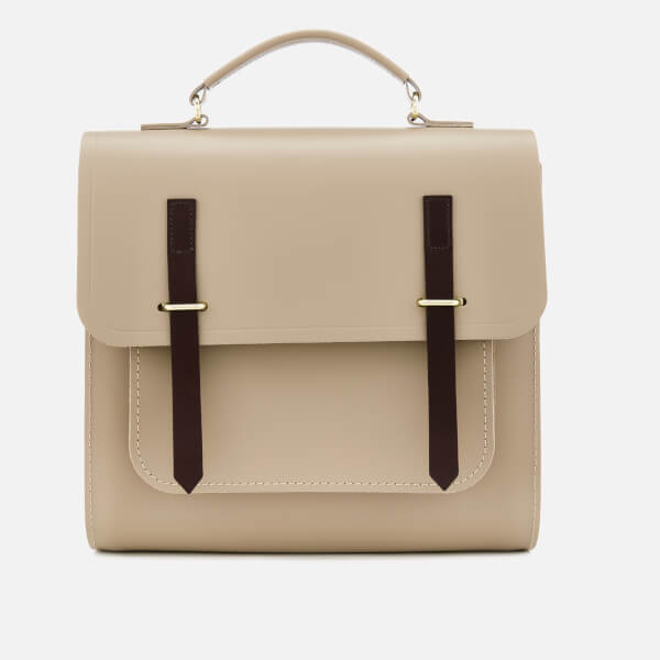 The Cambridge Satchel Company Women's Bridge Closure Backpack - Putty & Dark Brown