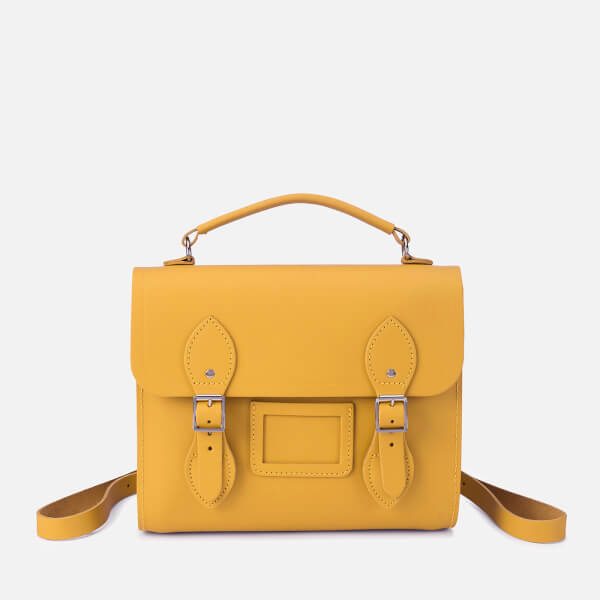 The Cambridge Satchel Company Women's Barrel Backpack - Mustard Matte