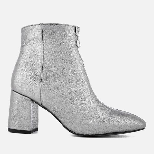 Rebecca Minkoff Women's Stefania Heeled Ankle Boots - Rock Grey