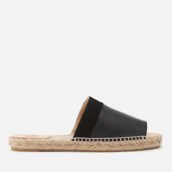 Castañer Women's Petunia Leather Mules - Negro