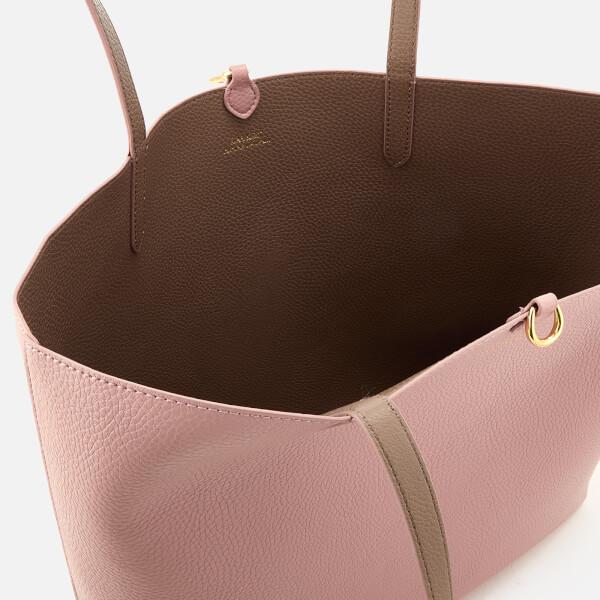 7ee615471994 Lauren Ralph Lauren Women s Merrimack Reversible Tote Bag - Rose  Smoke Taupe  Image 5