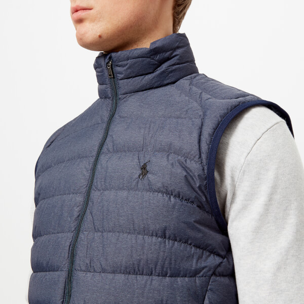 Polo Ralph Lauren Men s Down Fill Vest - Worth Navy Heather - Free ... a5b954fe5d27