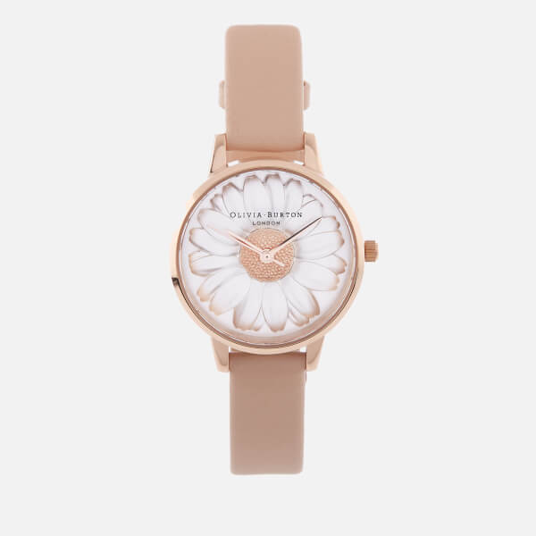 cc661f45c4dd Olivia Burton Women s 3D Daisy Watch - Nude Peach Rose Gold  Image 1