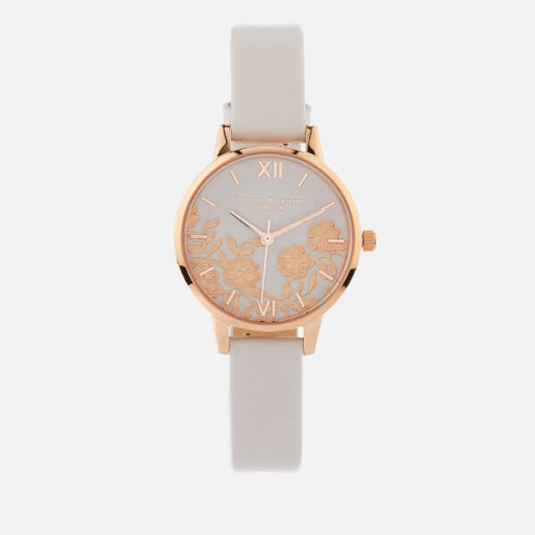 0fd6576ea57f Olivia Burton Women s Lace Detail Watch - Blush Rose Gold  Image 1