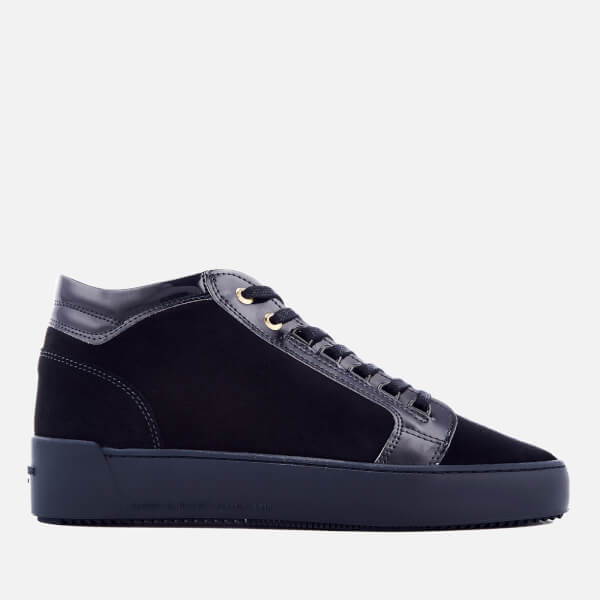 Android Homme Men's Propulsion Mid Suede/Patent Trainers - Navy