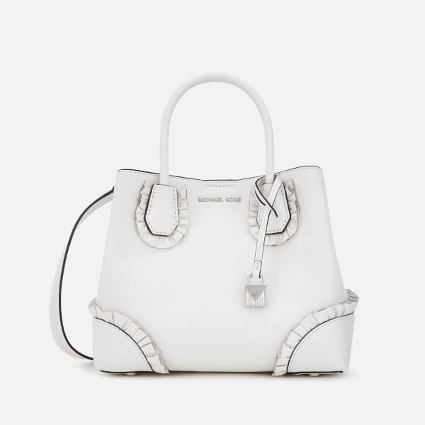 MICHAEL MICHAEL KORS Women s Mercer Gallery Small Ruffle Satchel - Optic  White  Image 1 f6a728e62