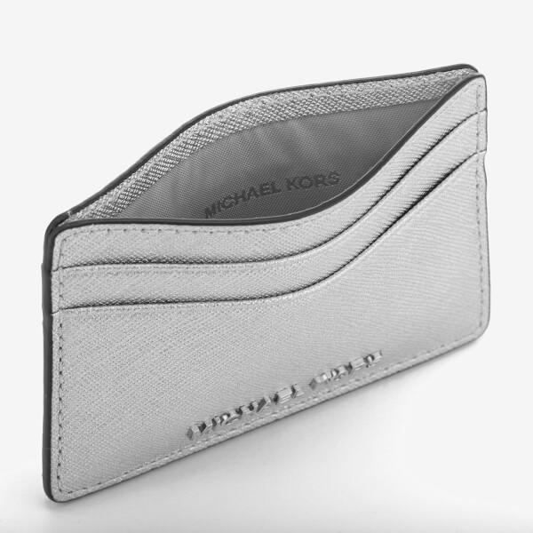 8c6c8737c27c8 MICHAEL MICHAEL KORS Women s Card Holder - Silver  Image 3