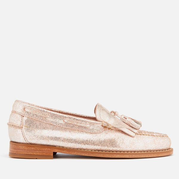 Bass Weejuns Women's Esther Suede Loafers - Silver