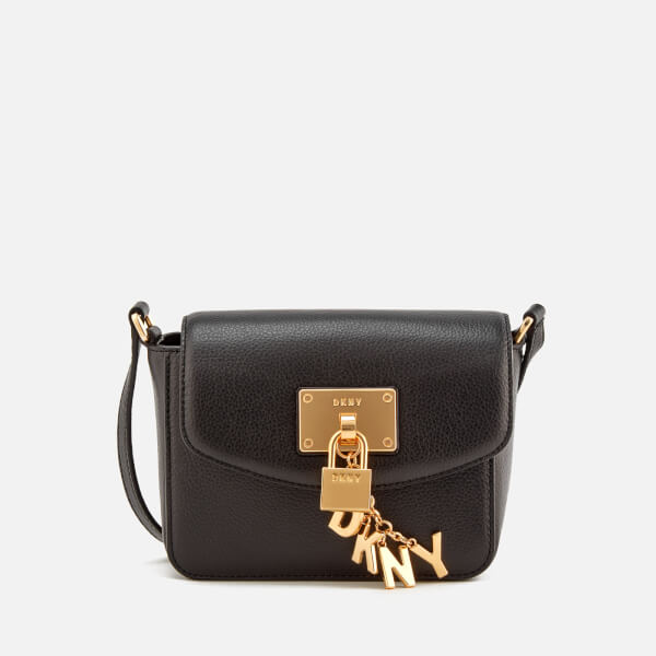 DKNY Women's Elissa Small Flap Cross Body Bag - Black