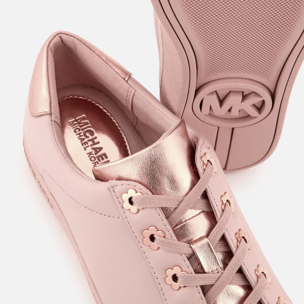 c93908679e9d MICHAEL MICHAEL KORS Women s Irving Leather Low Top Trainers - Soft Pink   Image 4