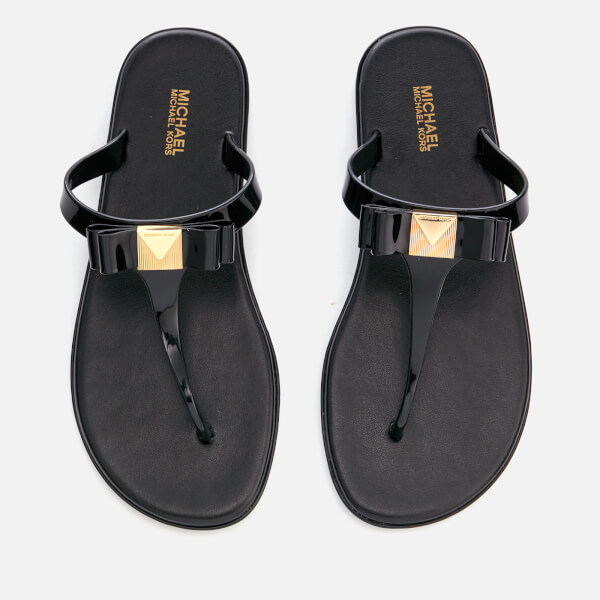 5bd0306eed02 MICHAEL MICHAEL KORS Women s Caroline Jelly Toe Post Sandals - Black  Image  1