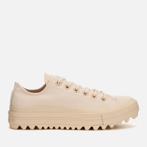 Converse Women's Chuck Taylor All Star Ripple Ox Trainers - Natural