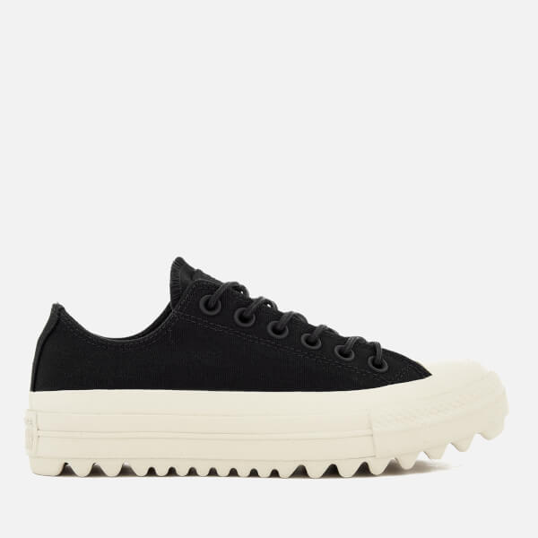 Converse Women's Chuck Taylor All Star Lift Ripple Ox Trainers - Black/Natural