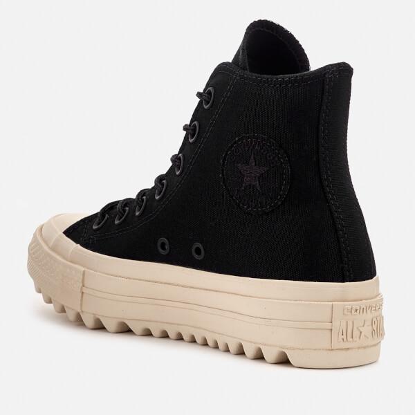 ea6eed00aff Converse Women s Chuck Taylor All Star Lift Ripple Hi-Top Trainers -  Black Natural