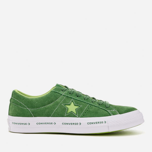 3df8cb13e5a1 Converse One Star Ox Trainers - Mint Green Jade Lime White  Image 1