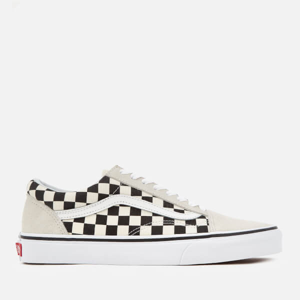 1e0c5b16f9ac Vans Men s Checkerboard Old Skool Trainers - White Black Mens ...
