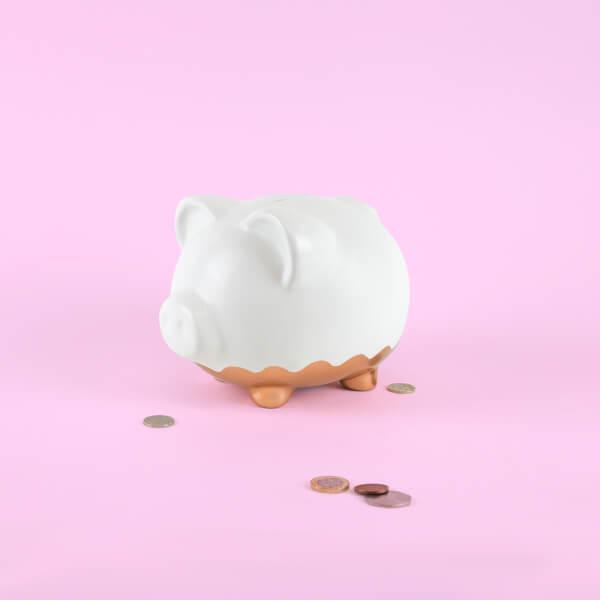 XL Rose Gold Piggy Bank