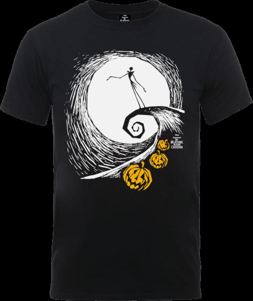 The Nightmare Before Christmas Jack Skellington Pumpkin King Black T-Shirt