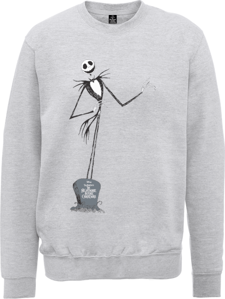 The Nightmare Before Christmas Jack Skellington Full Body Grey Sweatshirt