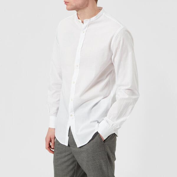 Officine Générale Men's Gaspard Garment Dye Cotton Shirt - White