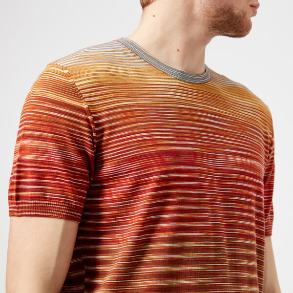 Missoni Men's Classic Multi Stripe T-Shirt - Multi