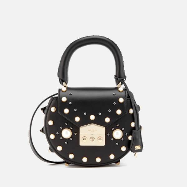 SALAR Women's Mimi Pearl Bag - Black