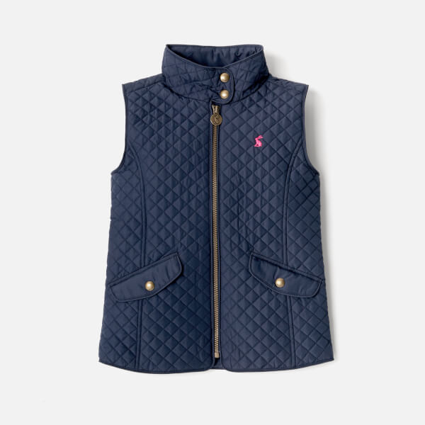 202aa445d Joules Girls  Silvan Quilted Gilet - French Navy Clothing