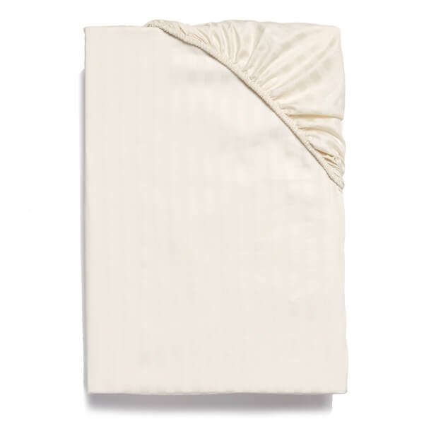 Christy 300TC Sateen Stripe Fitted Sheets - Ivory