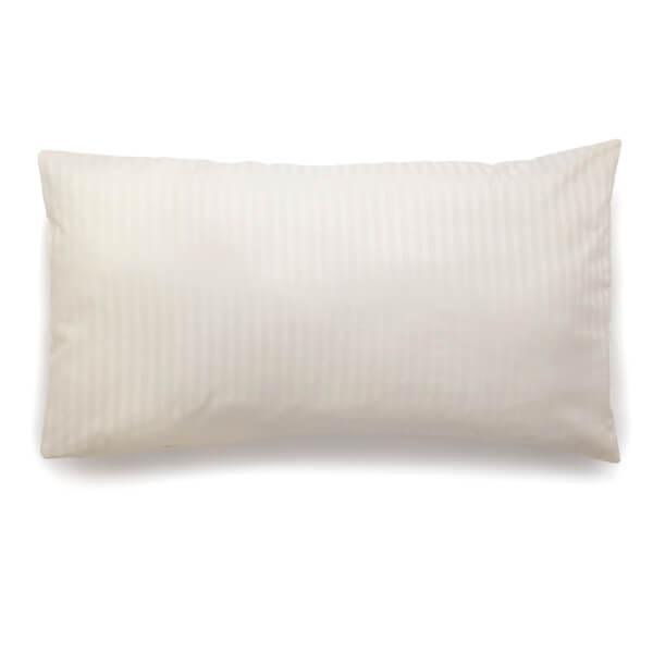Christy 300TC Sateen Stripe King Pillowcase Pair - Ivory