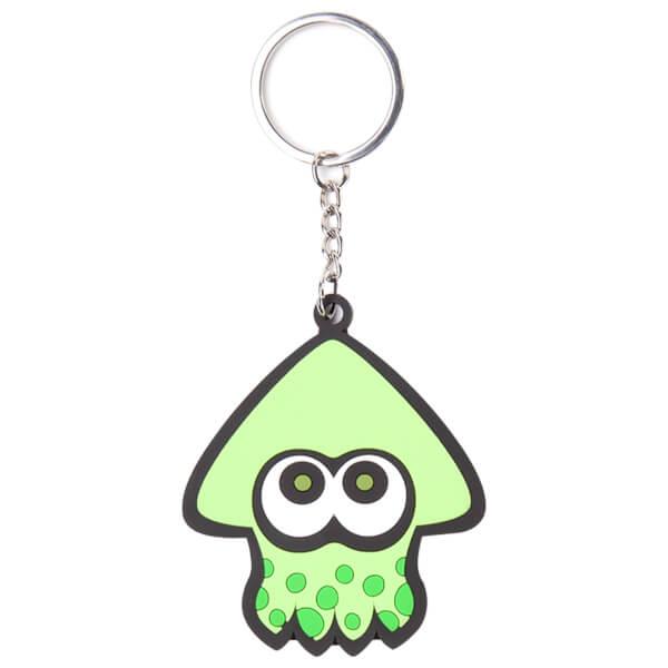 Splatoon Green Squid - Rubber Keychain