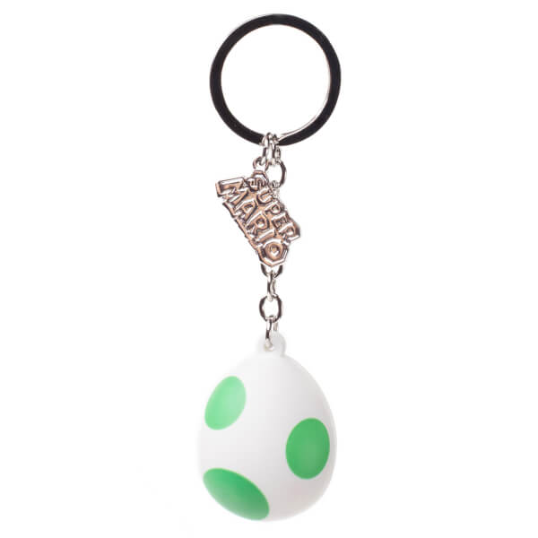 Yoshi's Egg - Rubber 3D Keychain
