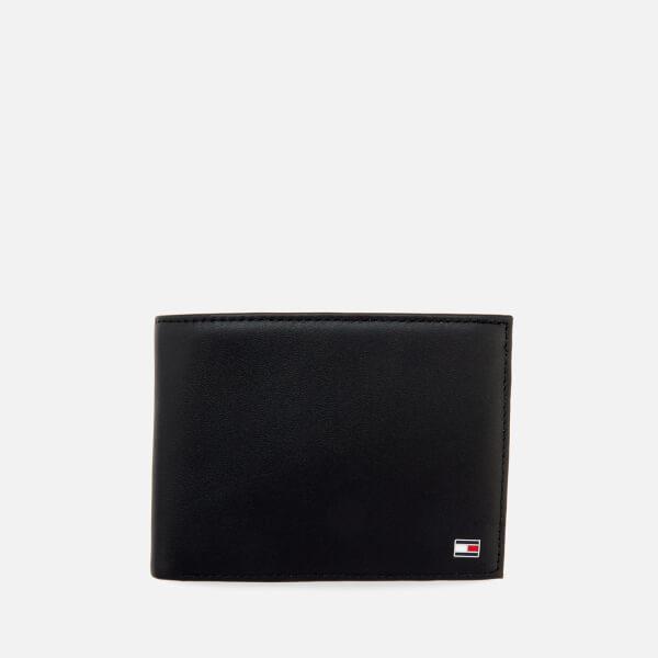 Tommy Hilfiger Men's Eton Credit Card Flap and Coin Wallet - Black