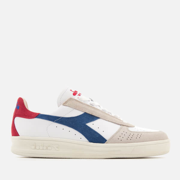 Diadora Men's B.Elite S L Suede/Grain Leather Trainers - True Blue/Cranberry - UK 10 DsOjJHN4u