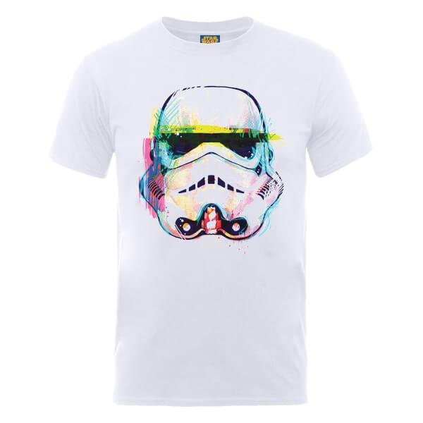 Star Wars Stormtrooper Paintbrush Art T-Shirt - White