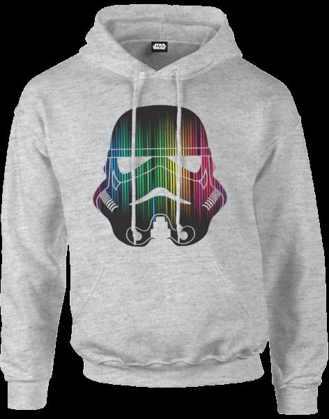 Star Wars Vertical Lights Stormtrooper Pullover Hoodie - Grey