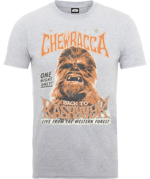 Star Wars Chewbacca One Night Only T-Shirt - Grey