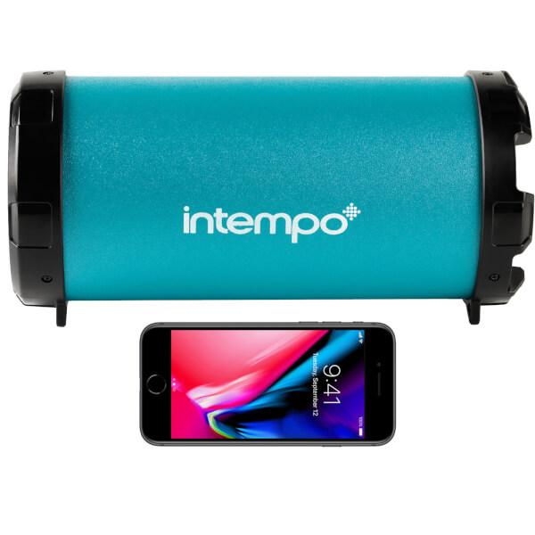 Intempo Large Wireless Bluetooth Tube Speaker - Turquoise