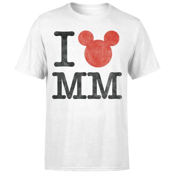 Disney Mickey Mouse I Heart MM T-Shirt - White