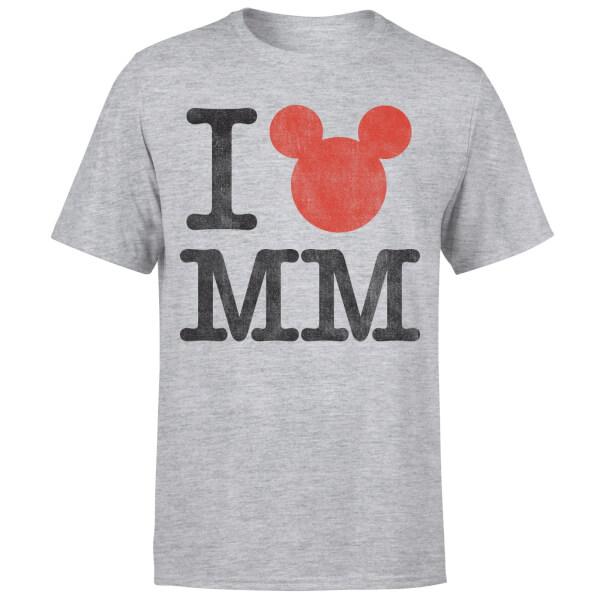Disney Mickey Mouse I Heart MM T-Shirt - Grey