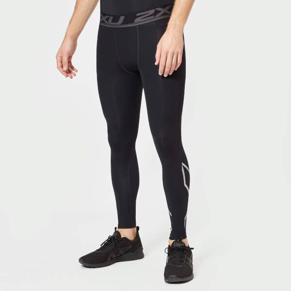 2XU Men's Accelerate Compression Tights - Black/Silver