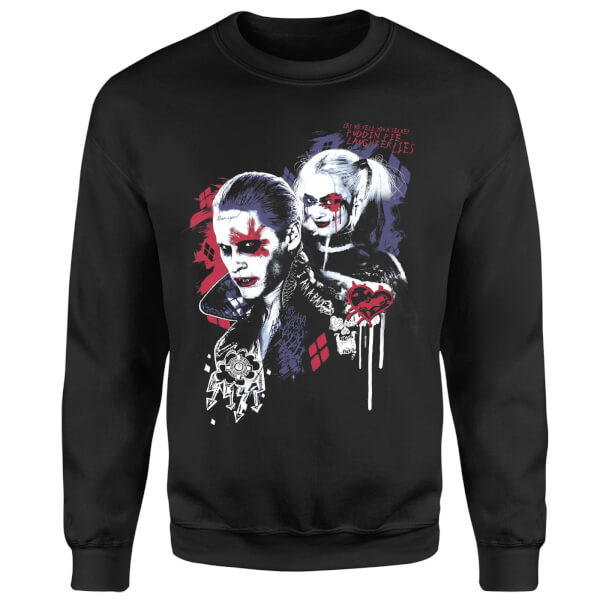 DC Comics Suicide Squad Harleys Puddin Sweatshirt - Black