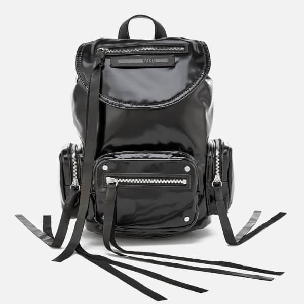 McQ Alexander McQueen Women s Mini Conv Vinyl Drawstring Bag - Black  Image  1 e50f3fbf20700