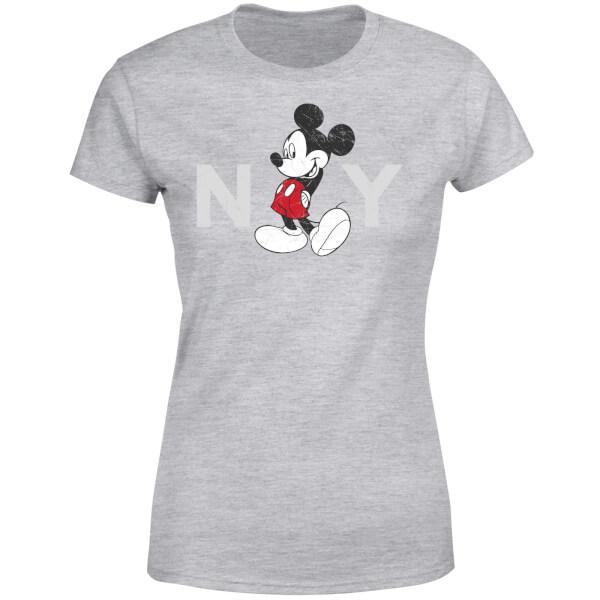 Disney Mickey Mouse NY Women's T-Shirt - Grey