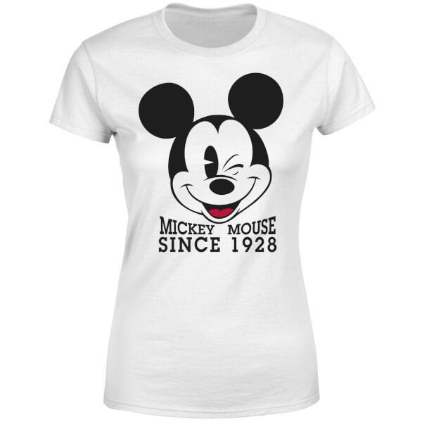 Disney Mickey Mouse Since 1928 Women's T-Shirt - White